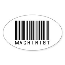 Machinist Barcode Oval Decal