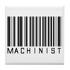Machinist Barcode Tile Coaster