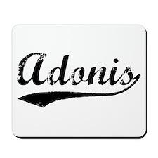 Vintage Adonis (Black) Mousepad