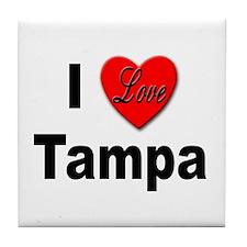 I Love Tampa Tile Coaster