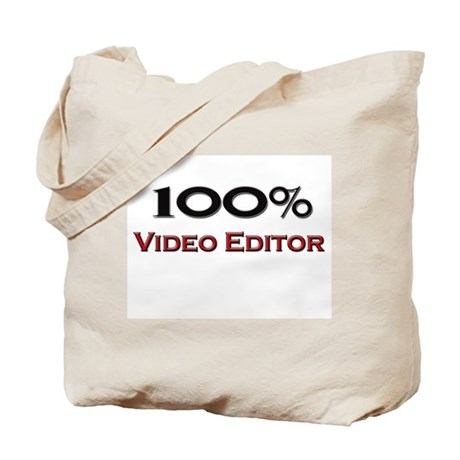 100 Percent Video Editor Tote Bag