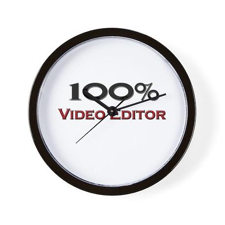 100 Percent Video Editor Wall Clock