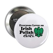"Irish Polish Girl 2.25"" Button"