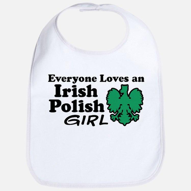 Irish Polish Girl Bib