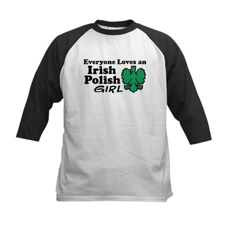 Irish Polish Girl Kids Baseball Jersey