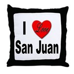 I Love San Juan Puerto Rico Throw Pillow