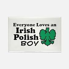 Irish Polish Boy Rectangle Magnet