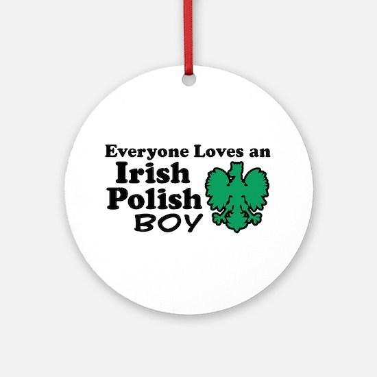 Irish Polish Boy Ornament (Round)