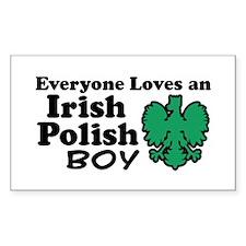 Irish Polish Boy Rectangle Decal