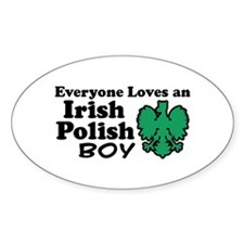 Irish Polish Boy Oval Decal