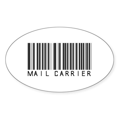 Mail Carrier Barcode Oval Sticker