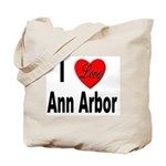 I Love Ann Arbor Michigan Tote Bag