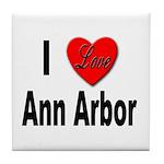 I Love Ann Arbor Michigan Tile Coaster
