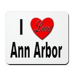 I Love Ann Arbor Michigan Mousepad