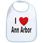 I Love Ann Arbor Michigan Bib