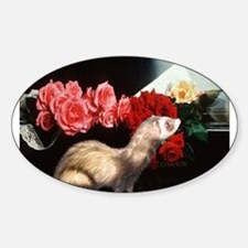 Piano Ferret Oval Decal
