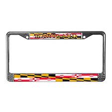 Maryland Blank Flag License Plate Frame