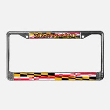 Maryland Blank Flag License Plate Frame