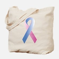 Pink Blue Awareness Tote Bag