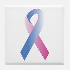 Pink Blue Awareness Tile Coaster