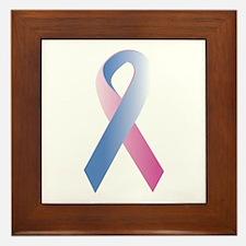 Pink Blue Awareness Framed Tile
