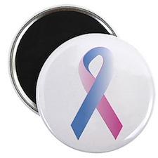 "Pink Blue Awareness 2.25"" Magnet (100 pack)"