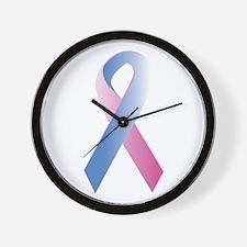 Pink Blue Awareness Wall Clock