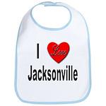 I Love Jacksonville Florida Bib