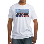 Anti United Nations Fitted T-Shirt