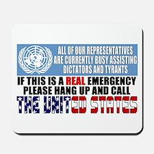 Anti United Nations Mousepad