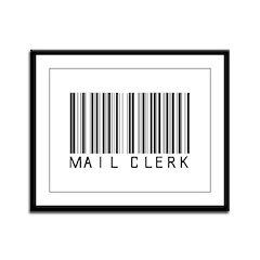 Mail Clerk Barcode Framed Panel Print