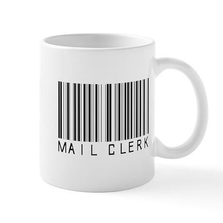 Mail Clerk Barcode Mug