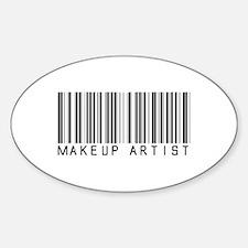 Makeup Artist Barcode Oval Decal