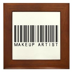 Makeup Artist Barcode Framed Tile