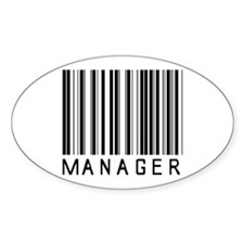 Manager Barcode Oval Decal
