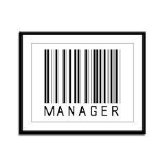 Manager Barcode Framed Panel Print