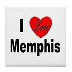 I Love Memphis Tennessee Tile Coaster