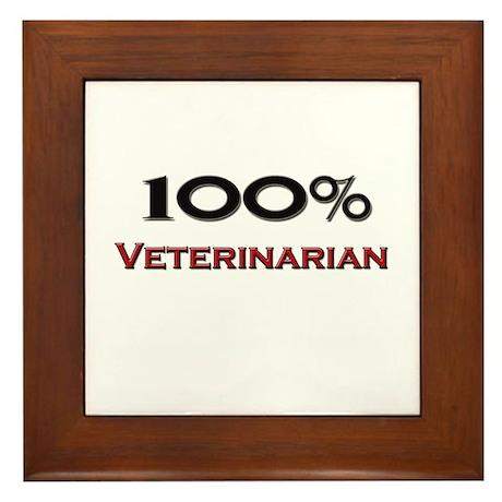 100 Percent Veterinarian Technician Framed Tile