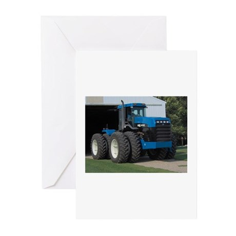 Ford New Holland 4 wd tractor Greeting Cards (Pk o
