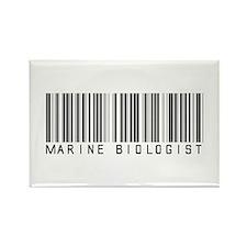 Marine Biologist Barcode Rectangle Magnet