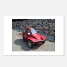 Red Freeway Mini Car Postcards (Package of 8)