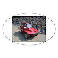 Red Freeway Mini Car Oval Decal