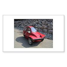 Red Freeway Mini Car Rectangle Decal