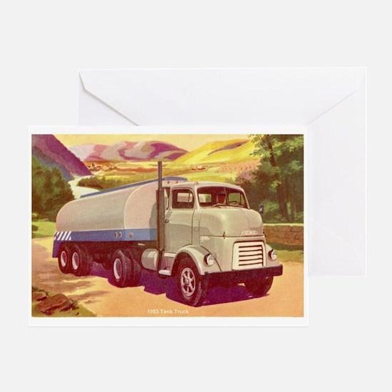 1953 GMC Tanker Truck Greeting Card