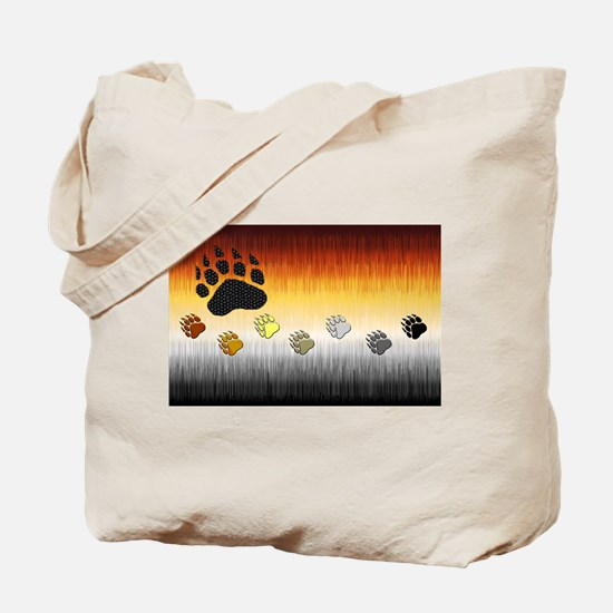 FURRY BEAR PRIDE FLAG/PAWS Tote Bag