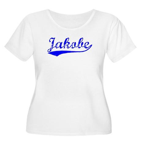 Vintage Jakobe (Blue) Women's Plus Size Scoop Neck
