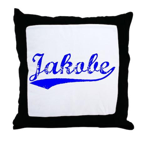 Vintage Jakobe (Blue) Throw Pillow