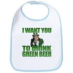 Uncle Sam Green Beer Bib