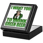 Uncle Sam Green Beer Keepsake Box