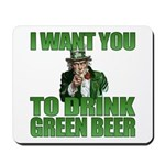 Uncle Sam Green Beer Mousepad